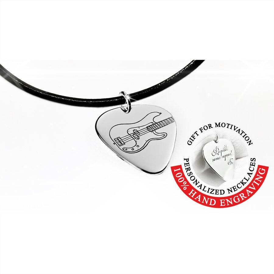 Tenson bassa elektriskā ģitāra - mediators kaklarota