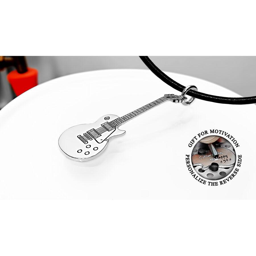 Personalizēta kaklarota Gibson Les Paul ģitāra melomānam