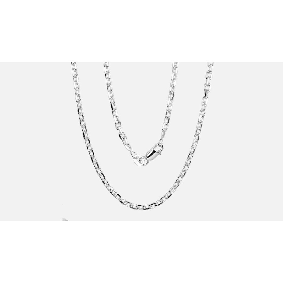 Silver chain for men, Width 3mm, Chain type Anchor