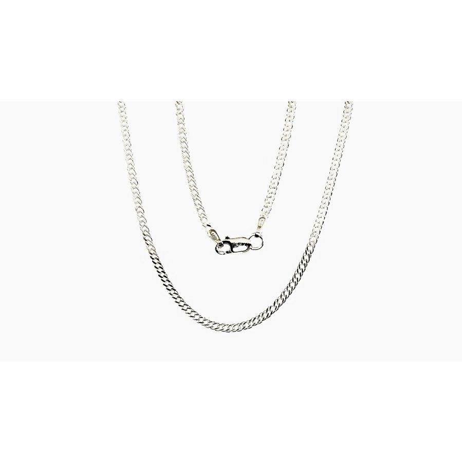 Silver chain for women, Width 2mm, Chain type Rombo
