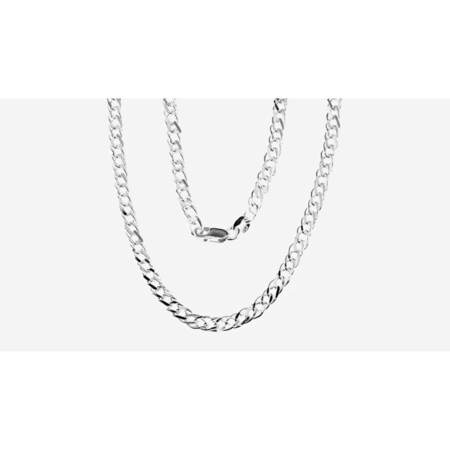 Silver chain for men, Width 4mm, Chain type Rombo