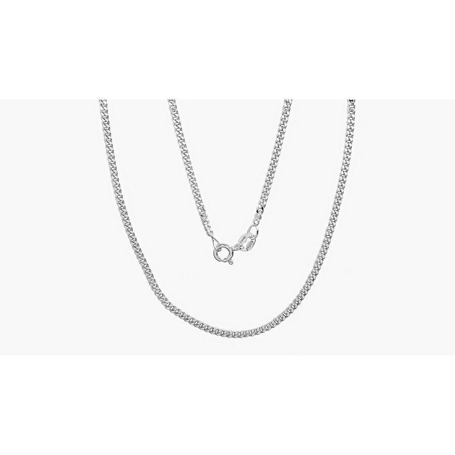 Silver chain for women, Width 2mm, Chain type Curb