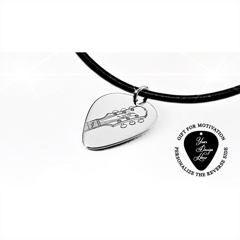 Ģitāras mediators personalizēta kaklarota, ģitāras grifs