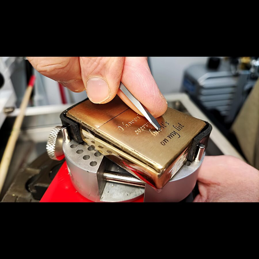 Custom hand engraved, personalised Zippo lighter