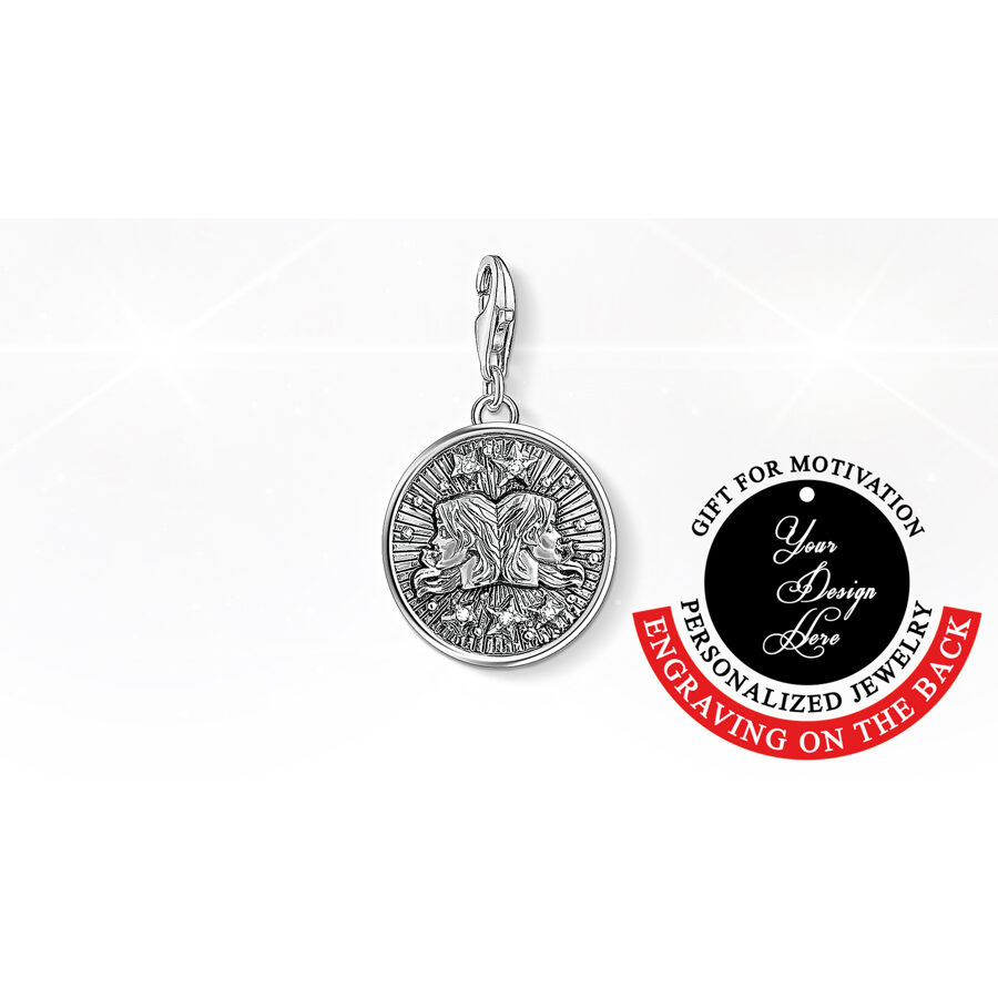 Thomas Sabo charm pendant, zodiac sign gifts, Gemini jewelry