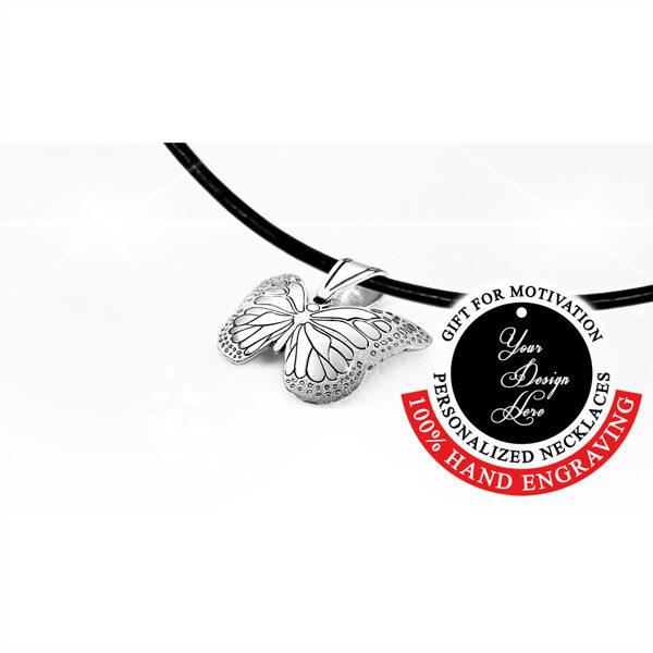 Personalizēta dāvana sievietei - kaklarota Monarhu tauriņš