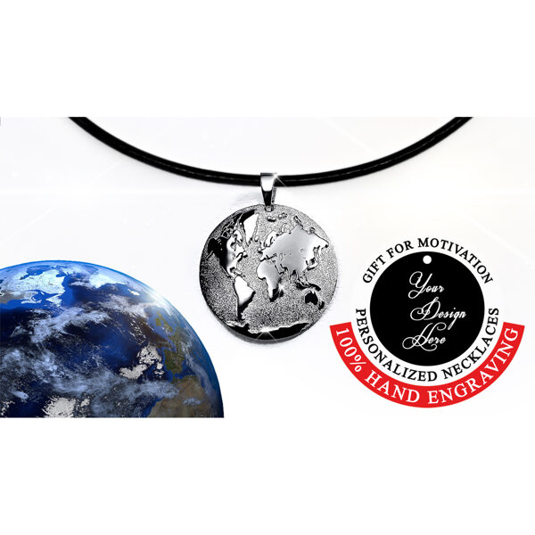 Anniversary gifts for her, World necklace silver, Gifts for women