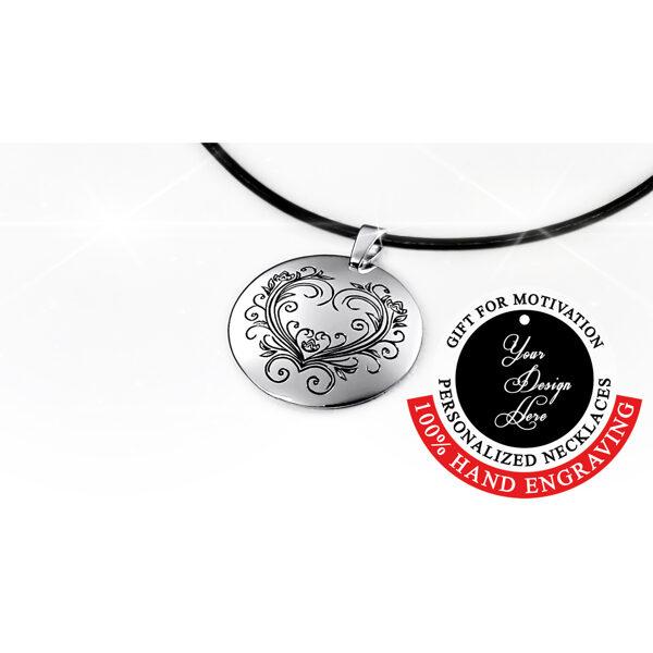 Sterling silver love, heart necklace for women, mom, girlfriend