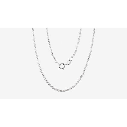 Silver chain for women, Width 2mm, Chain type Rope