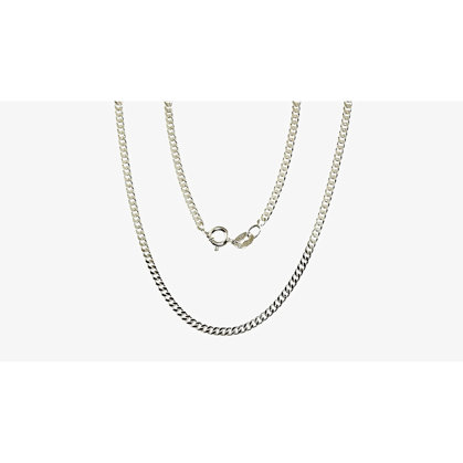 Silver chain for women, Width 2mm, Chain type Curb Nr2