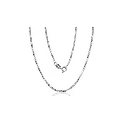 Silver chain for women, Width 2mm, Chain type Rollo
