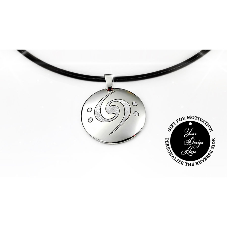 Engraved infinity bass clef necklace – can be personalized