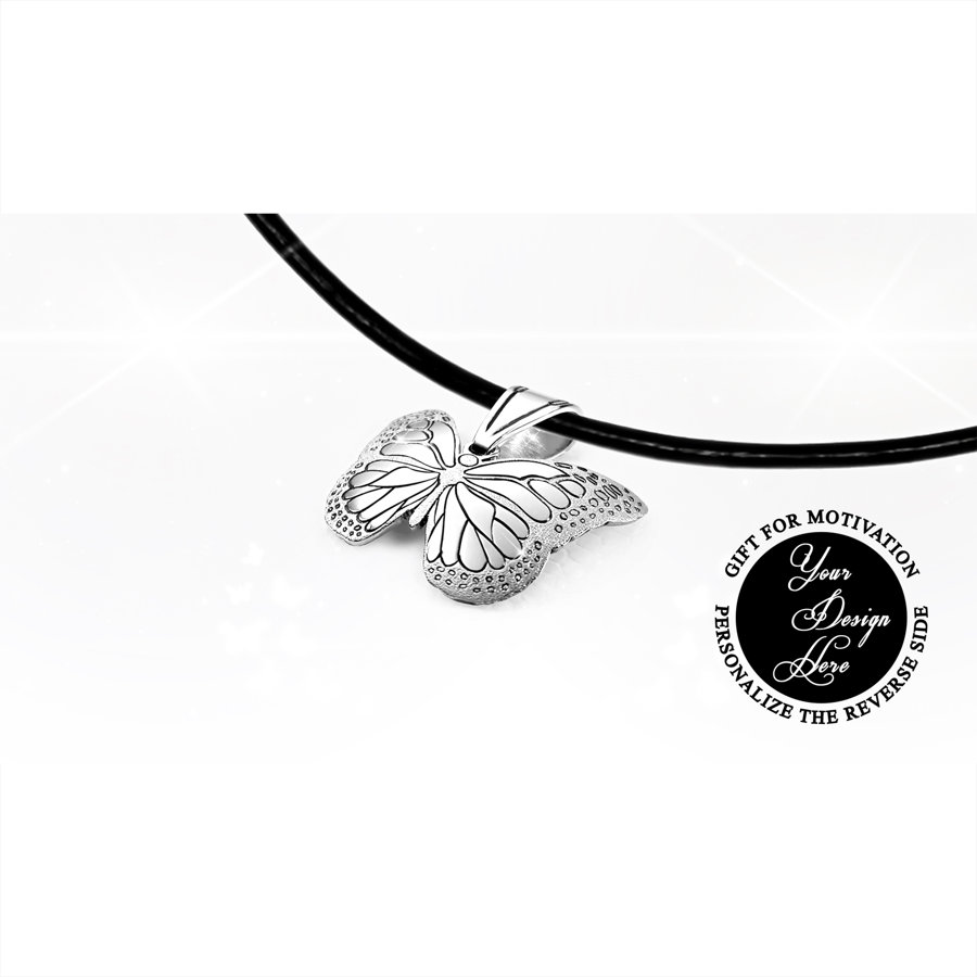 Monarch butterfly - Wish necklace - Special gift for her