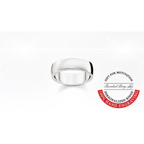 Thomas Sabo sudraba laulību gredzens, gravēšana, comfort 6mm