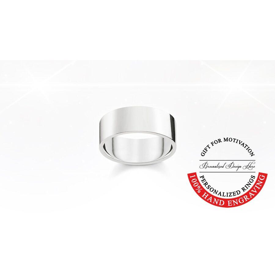 Thomas Sabo sudraba laulību gredzens, gravēšana, flat comfort 9mm