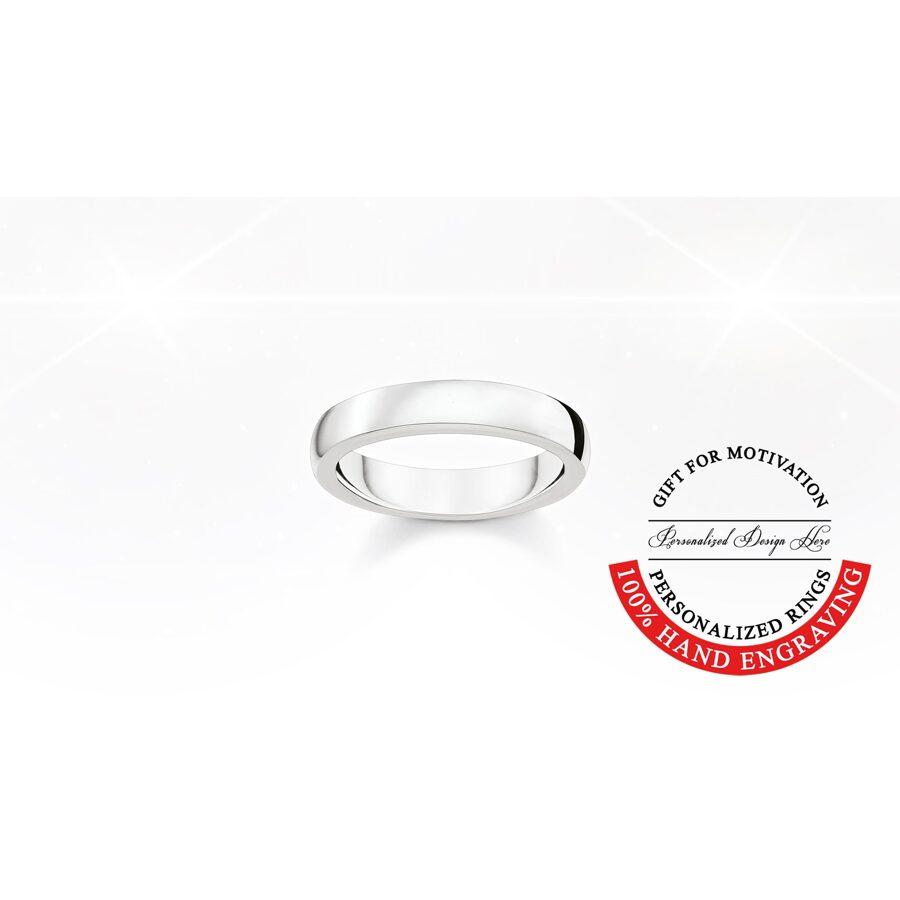 Thomas Sabo sudraba laulību gredzens, gravēšana, comfort 4mm
