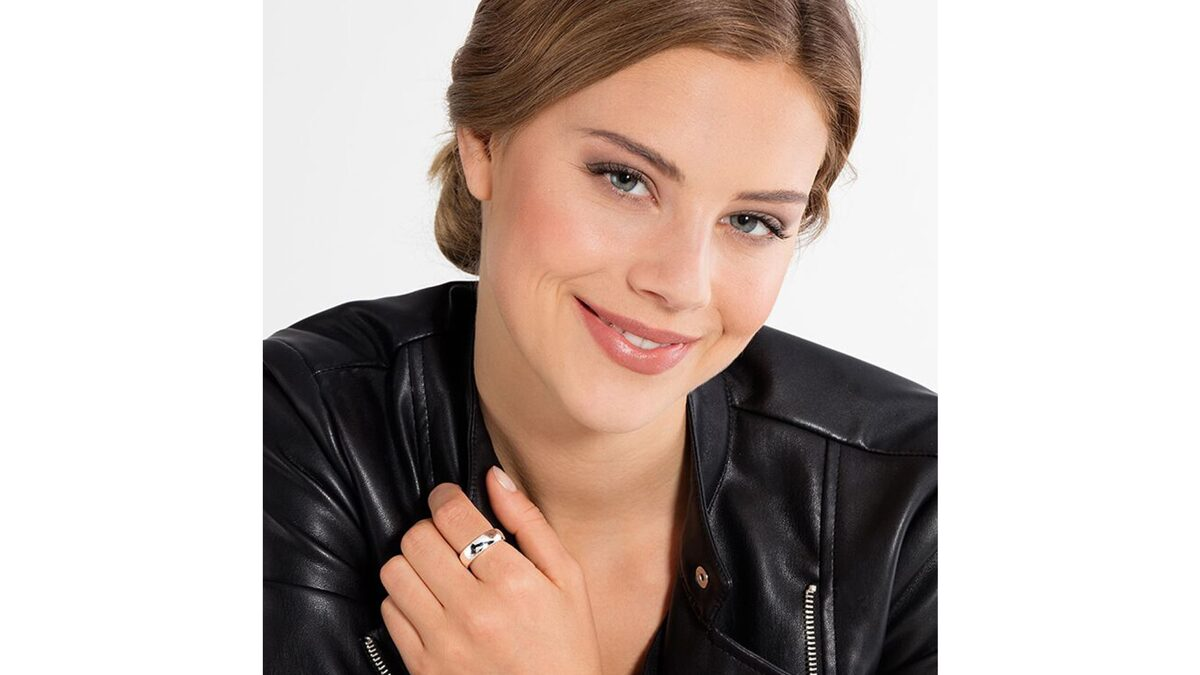 Thomas Sabo Silver ring - engraved wedding ring, comfort 6mm