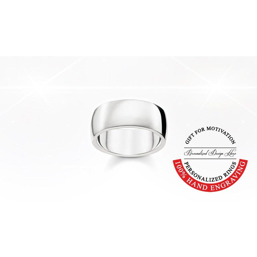 Thomas Sabo sudraba laulību gredzens, gravēšana, comfort 9mm
