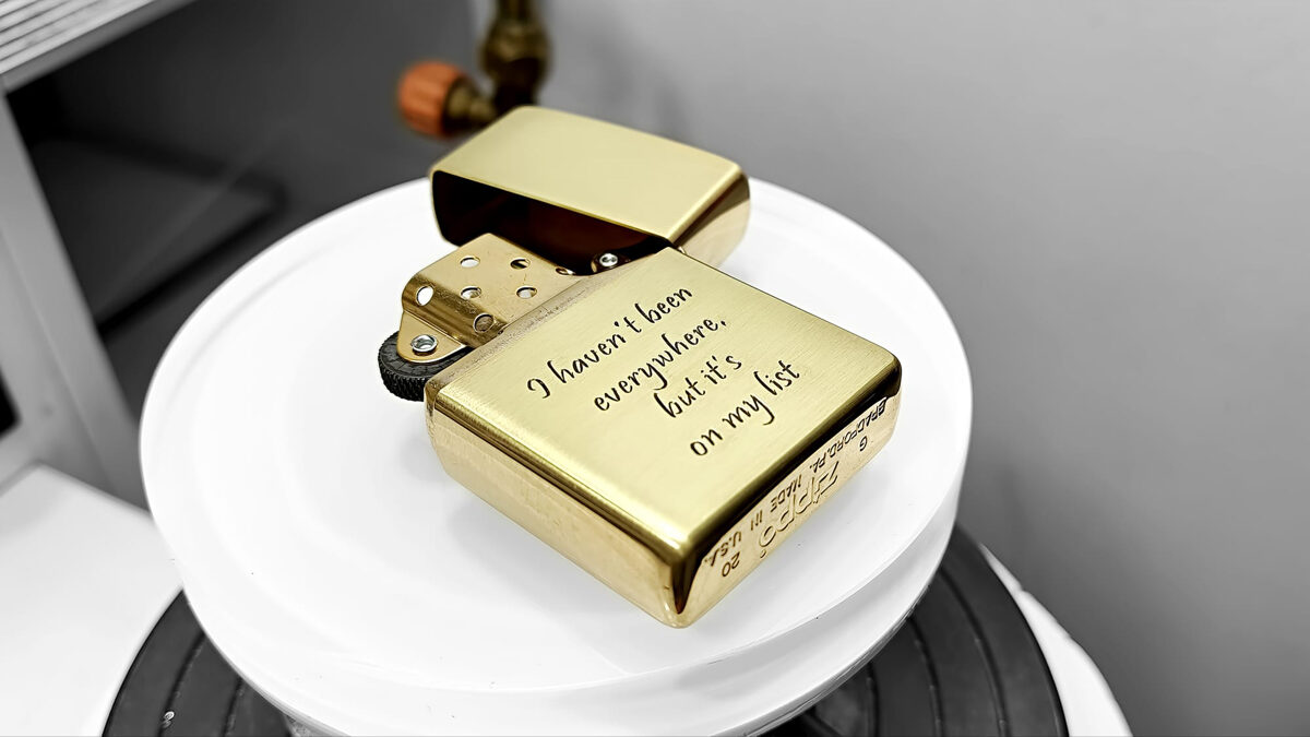 Custom hand engraved personalized zippo lighter